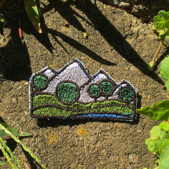 Little Big Mountains handmade iron on mini patch