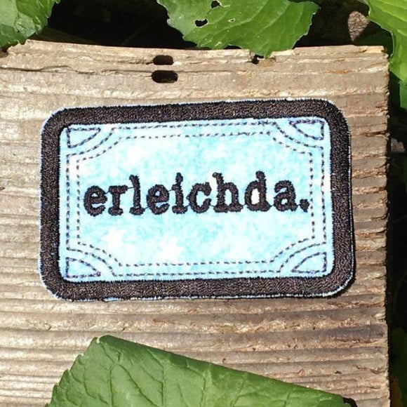 Erleichda handmade iron on patch