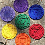 7 Chakras Handmade iron on Patches