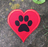 Pet Love, handmade iron on patch