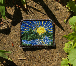 Little Lake and Forest handmade mini iron on patch