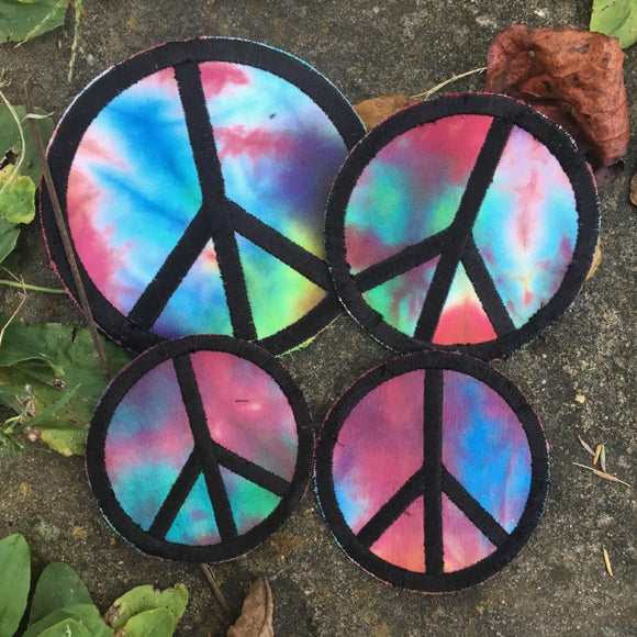 SALE!!  Handmade Peace sign iron on patch.