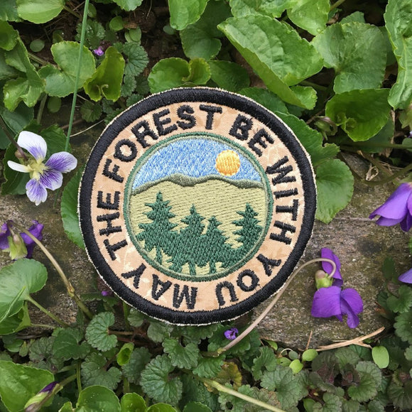 May the Forest be with you handmade iron on patch.