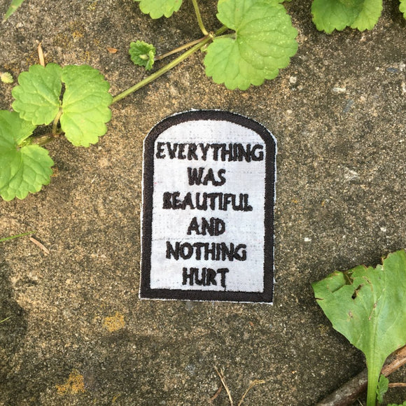 Slaughterhouse Five handmade iron on patch