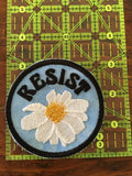 RESIST handmade iron on patch.