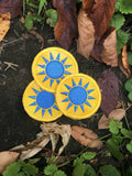 The Sky was Yellow and the Sun was blue handmade patch