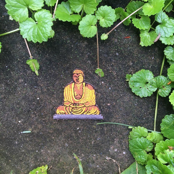 SALE!!  Little Golden Buddha iron on patch.