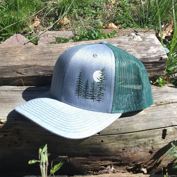 Moonlit Pines trucker hat.