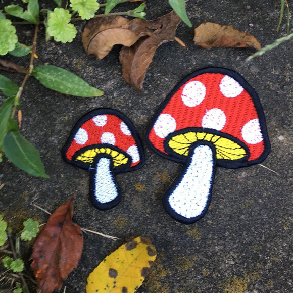 Little Toadstools iron on mushroom patches