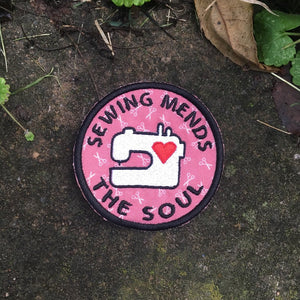 Sewing Mends the Soul handmade patch