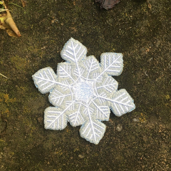 Little Snowflake handmade iron on patch