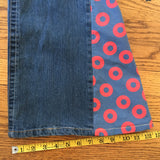 SALE!! Upcycled Phish Bell Bottoms, Fishman Donuts Fabric