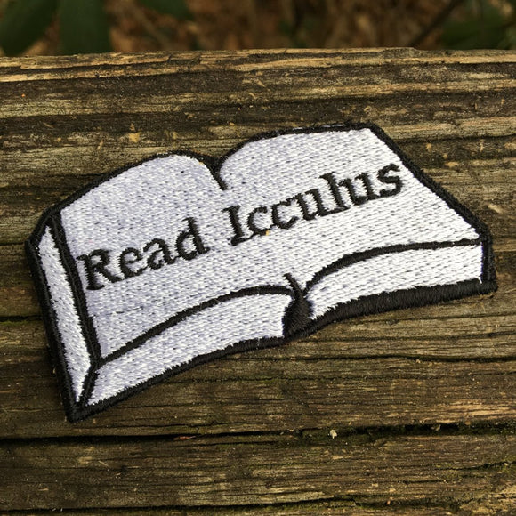 Read Icculus handmade iron on Phish patch.