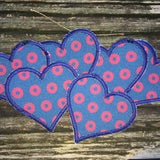 Phish Love handmade iron-on Fishman donut patch
