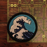 the Great Wave Handmade iron on patch
