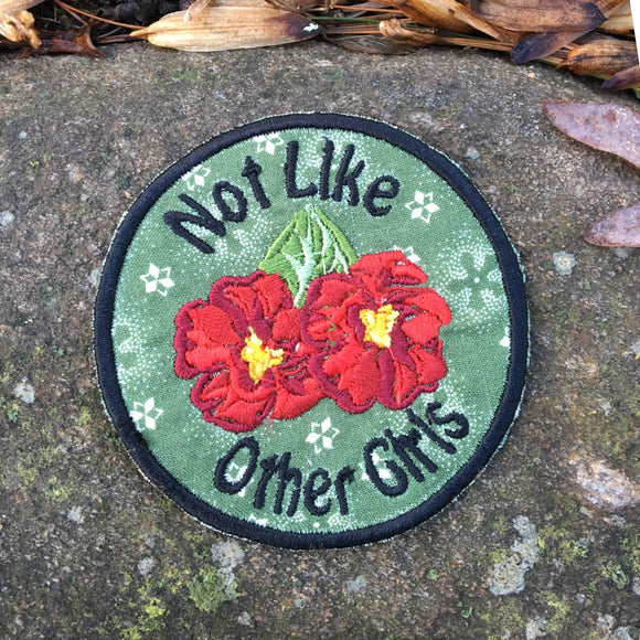 Not Like Other Girls handmade Grateful Dead Inspired iron on patch