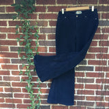 "SALE!! Upcycled Navy Corduroy Bell Bottoms ""Midight Rambler"""