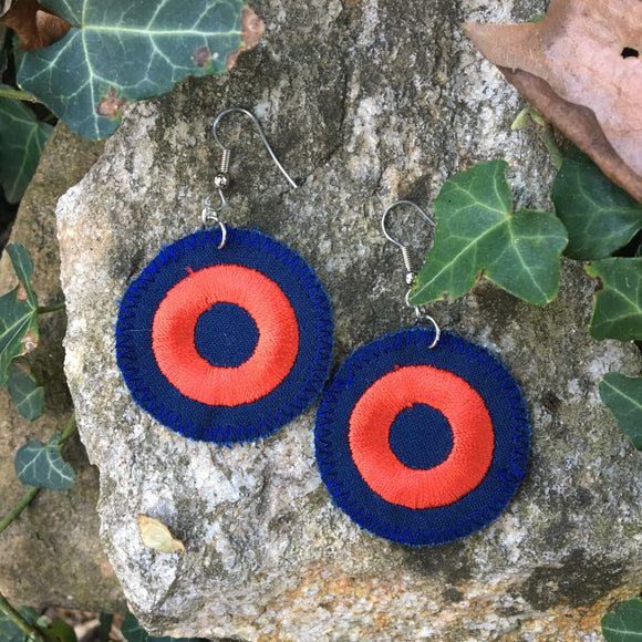 Phish Fishman donut fabric earrings.