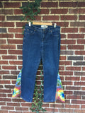"SALE!! Upcycled Tie Dye Bell Bottoms ""Solar Garlic"""
