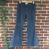 "Upcycled Grey Corduroy Bell Bottoms ""Touch of Grey"""
