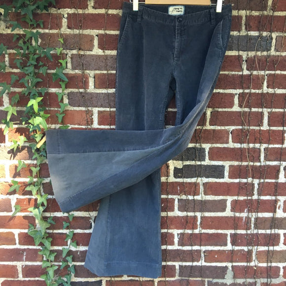 Upcycled Grey Corduroy Bell Bottoms