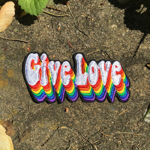Give Love handmade iron on patch.
