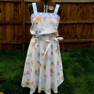 "Upcycled Dress ""Peace Love and Ladybugs"""
