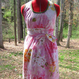 "Upcycled Wrap Dress ""May Flowers"""