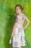 "Upcycled Patchwork Dress ""At the Pavillion"""