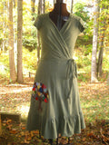 "Handmade Hemp Wrap Dress ""Prunin"""