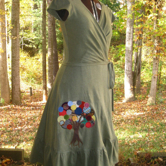 Handmade Hemp Wrap Dress
