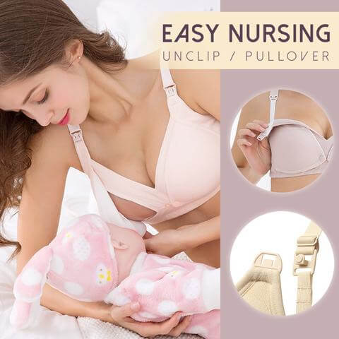 Easily unclip or pull over the bra one-handed
