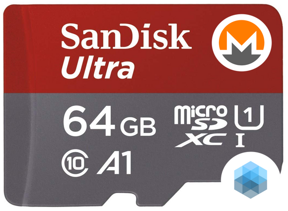 Monero iCryptoNode Sandisk Ultra Micro SD Card 64GB