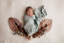 Load image into Gallery viewer, Sage I Baby Jersey Wrap & Beanie Set