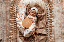 Load image into Gallery viewer, Paradise | Baby Jersey Wrap & Beanie Set