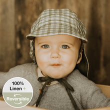 Load image into Gallery viewer, Baby Reversible Flap Sun Hat - Noah / Olive