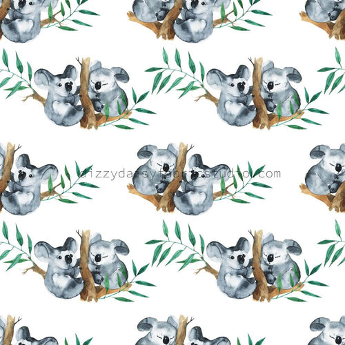Burp Cloth - Cuddling Koalas