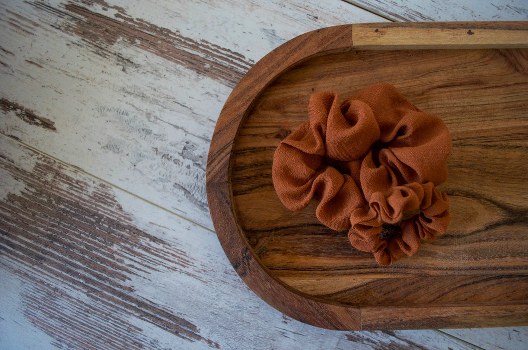 Brown Scrunchie