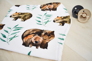 Burp Cloth - Wombats