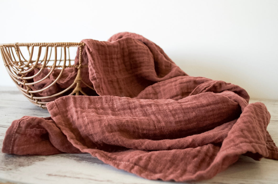 DISCONTINUED - Simple Swaddle - Hand Dyed Muslin