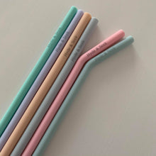 Load image into Gallery viewer, Silicone Straw Set (6)