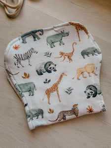 Burp Cloth - Zoo Animals