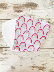 Burp Cloth - Rainbows