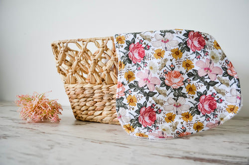 Burp Cloth - Aurora Flowers