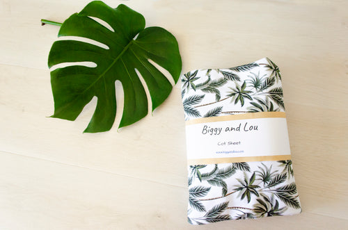 Cot Sheet - Tropical Palms
