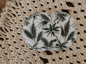 Breast Pad - Tropical Palms