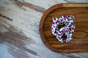 Mulberry Flowers Scrunchie