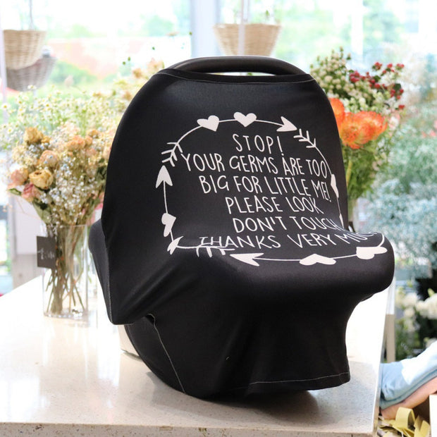 """Stop...Don't Touch"" Car Seat Cover"