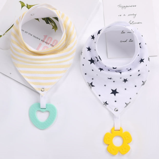 Bandana Bibs with Teething Toys
