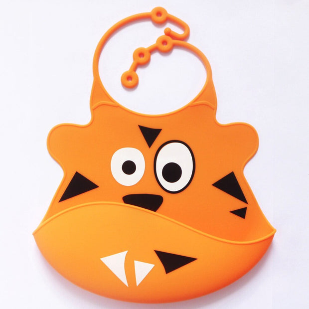 Funky Characters Soft Silicone Bib